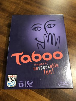 Taboo board game NEW for Sale in Pompano Beach, FL