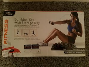 New Dumbbell Set with Storage Tray for Sale in Sterling Heights, MI