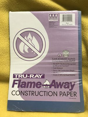 Tru-Ray Flame Away Blue Construction Paper for Sale in Sioux Falls, SD