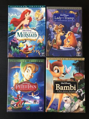 Disney Platinum Edition DVDs for Sale in Annapolis, MD
