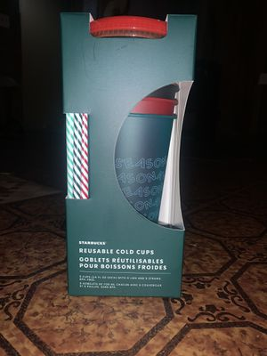 Reusable Starbucks Xmas Cold Cups for Sale in Washington, DC