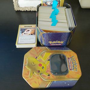 Pokemon Cards (Around 500) And Pikachu Tin for Sale in Lantana, FL