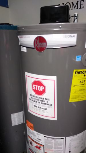 Rheem water heater 50 gallons price includes installation for Sale in Pasadena, CA