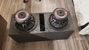 2 12wdxG2.4 2500 watt subwoofers and box for Sale in Nashville, TN