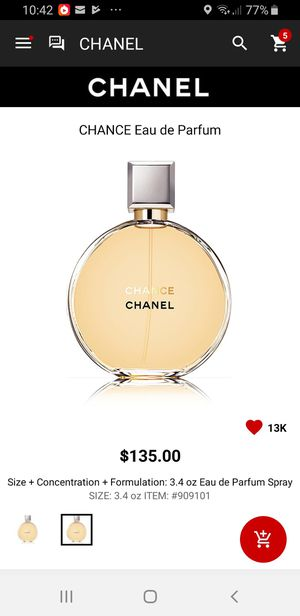 Chance Chanel perfume 3.4 Oz for Sale in Fresno, CA