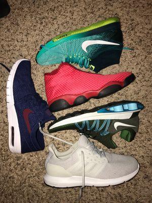 Blue Nike SB 11.5 Red Jordan 13 2.0 s 11.5 Gray Adidas ortholite size 11.5 Nike Flyknit soon allout size 11 Green Nike Shox 2018 s 11 All NEW for Sale in Auburn, WA