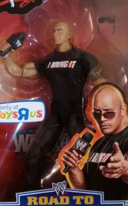 """New WWE """" The Rock"""" Elite Collection Toys R Us Limited Edition. for Sale in Apopka,  FL"""