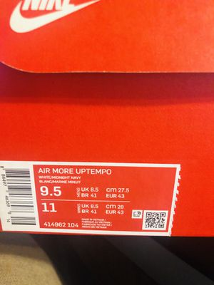 Air More Uptempo 9.5 for Sale in Los Angeles, CA