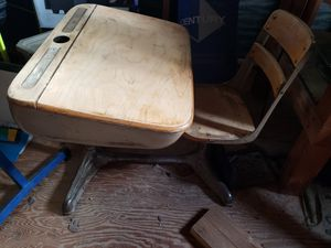 Student desk with attached chair for Sale in Bend, OR