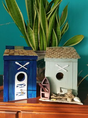 Handcrafted bird houses $30 each for Sale in Bristol, PA