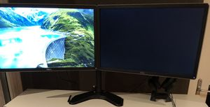 """Dual 24"""" Monitor and Stand (Dell P2416D) for Sale in Seattle, WA"""