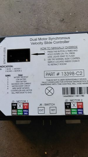 Dual motor control for slide outs for Sale in Gilbert, AZ