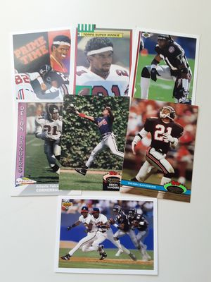 Deion Sanders 7 cards for Sale in Los Angeles, CA