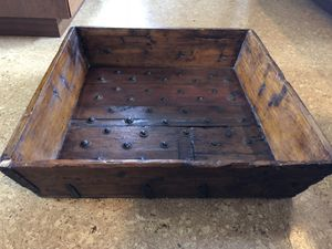 ANTIQUE CHINESE WOODEN RICE BUCKET - one of a kind for Sale in Seattle, WA