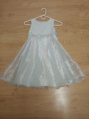 Like new girls size 10 Bonnie Jean light blue sleeveless dress with pink flower accents around waist for Sale in NW PRT RCHY, FL