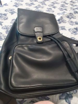 Vintage Coach backpack black leather original vintage for Sale in Land O Lakes, FL