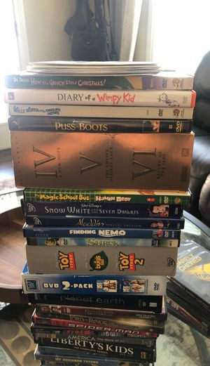30+ DVDs Great Titles (Star Wars Toy Story) for Sale in Long Beach, CA