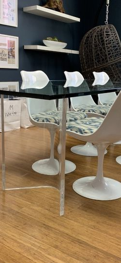 Custom Lucite + Glass Long Table $1000 for Sale in Beverly Hills,  CA