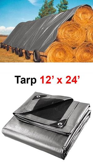 New in box $25 Heavy Duty 12'x24' 10mil Canopy Poly Tarp Reinforced Tent Car Boat Cover Tarpaulin for Sale in Whittier, CA