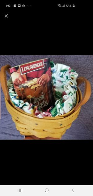 Longaberger 1998 Thyme Booking Basket for Sale in Garland, TX