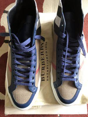Authentic Burberry high top sneakers sz.11.5 for Sale in Woodbridge, VA