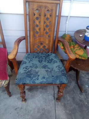 Antique high back wooden chair for Sale in Pasadena, CA