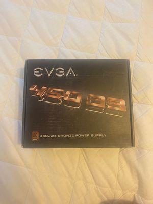 EVGA 450 B3 power supply bronze 450 watt computer part for Sale in Shingle Springs, CA