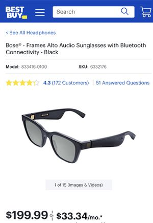 Bose Sunglasses with Bluetooth & Audio Builtin Speaker Frames...ONLY $175! for Sale in Miami, FL