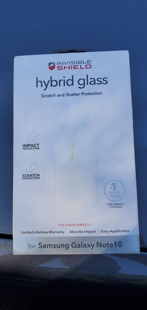 Hybrid glass Samsung Galaxy note 10 protector for Sale in Covina, CA