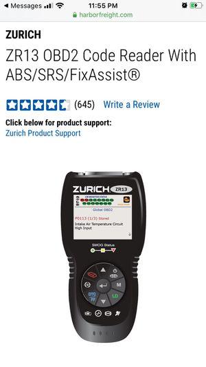 Obd2 ZR13 ZURICH scanner for Sale in Stockton, CA