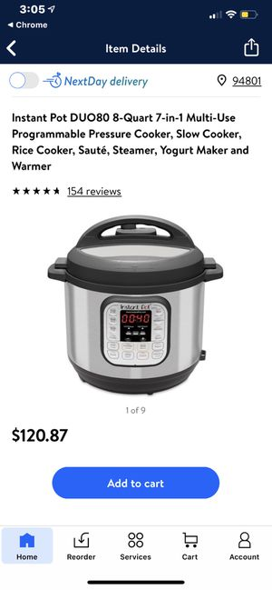 Instant pot ip duo80 brand new 65$ for Sale in Richmond, CA