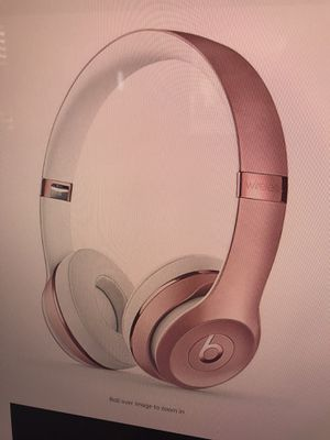 New Beats Solo 3 Wireless Headphone Rose Gold for Sale in Moreno Valley, CA