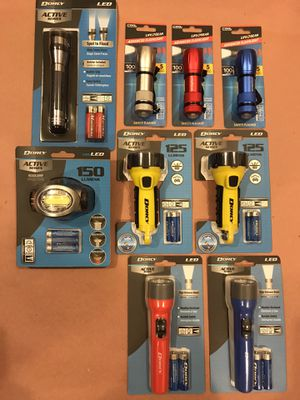"""Dorcy Flashlights all NEW at a Great Deal. All 9 Lights. """"EVERYTHING""""$55 FIRM for Sale in Queens, NY"""