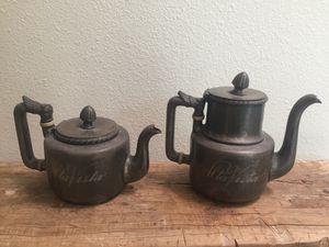 Antique Silver Hotel Tea Pots! Perfect for Halloween for Sale in Brea, CA