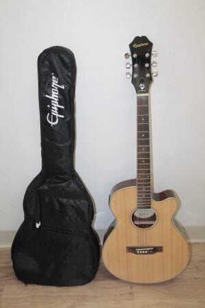 Epiphone PR-4E NA 6 String Acoustic-Electric Guitar w/ Gig Bag for Sale in Norwalk, CA