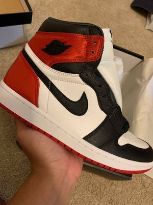 Jordan 1 Satin Black Toe Size 7.5 Men / 9 Women for Sale in Houston, TX
