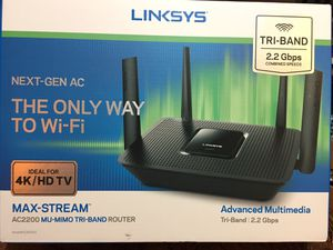 Linksys AC2200 Tri-Band Router 2.2 Gbps MU-MIMO Tri-Band Router for Sale in Portland, OR