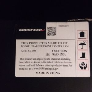 Godpeed) Upper Adjustable Control arm for Sale in Irving, TX