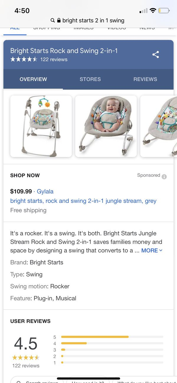 Bright stars 2in 1 swing set !
