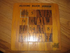 Easy Pieces Wooden Sliding Blocks Number Puzzle for Sale in Traverse City, MI