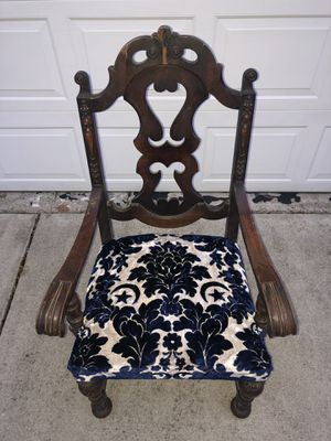 Vintage Wooden Chair, Newly Upholstered for Sale in Columbus, OH