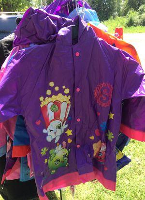 Licensed character raincoats! NWT! M & L! Shopkins, Paw Patrol, Minnie, Mickey, MLP, TMNT, Batman! $6 ea. for Sale in Flat Rock, MI