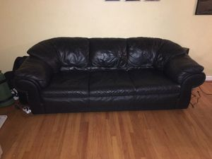 """Italian Leather sofa 3 seater black - """"Nicolleti"""" for Sale in Cupertino, CA"""