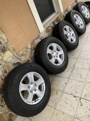 NEW 2019 Jeep Wrangler rims with new Michelin tires. for Sale in Miami, FL