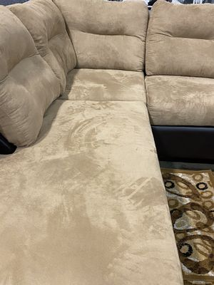 Couch, Sectional color is coffee and light brown for Sale in Reading, PA