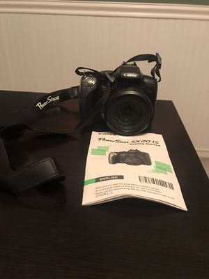 CANON POWERSHOT SX20 IS DIGITAL CAMERA for Sale in Bartlett, IL