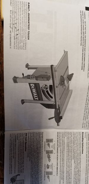 DeWalt DW746 Table Saw for Sale in Thompsonville, IL