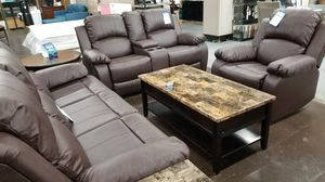 3pc reclining sofa love chair for Sale in North Highlands, CA