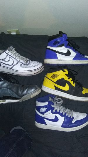 "Nike Jordan 1's,Jordan Dub Zero ""Classic Charcoal"", Nike af1 customs for Sale in Irvington, AL"