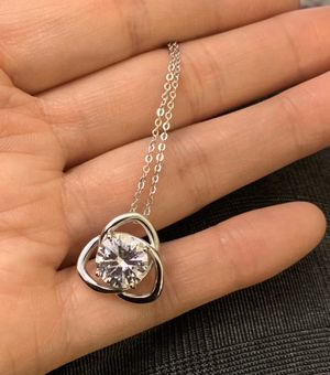 "Trinity necklace sterling silver and clear cz 21"" link chain for Sale in Richmond, VA"